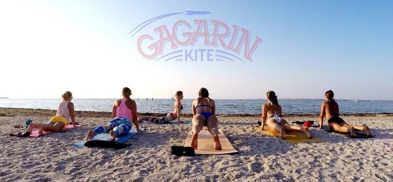 По утрам в Гагарине Зарядка Школа кайтинга в крыму фото