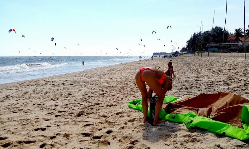 Кайт пляж и трафик во вьетнаме Муйне фото