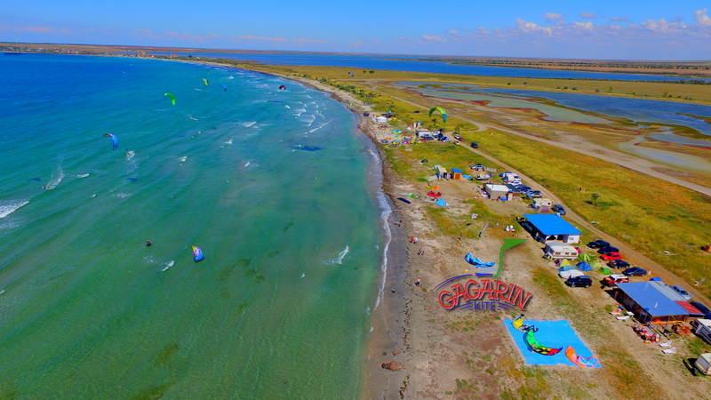 Кайт спот Межводное, Крым GagarinKite с воздуха фото
