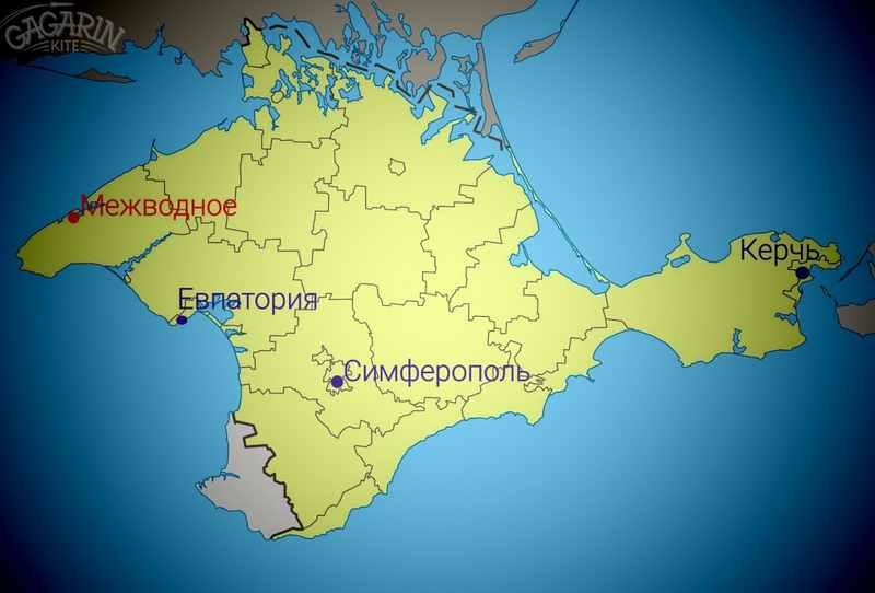 Межводное на карте Крыма картинка