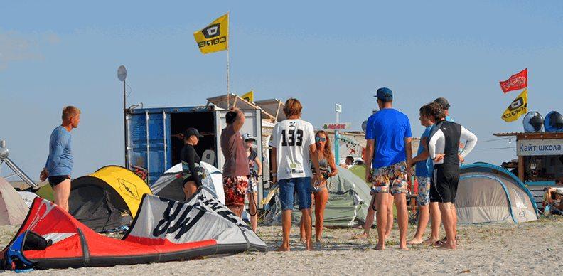 Обучение на иснтрукторов по кайт серфингу кайт школа Гагарин Крым Межводное фото